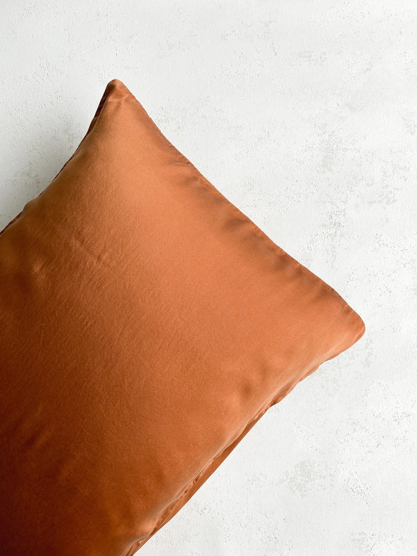 Rust Silk Pillowcase 301