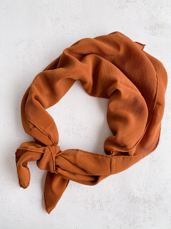 Rust Silk Scarf 021