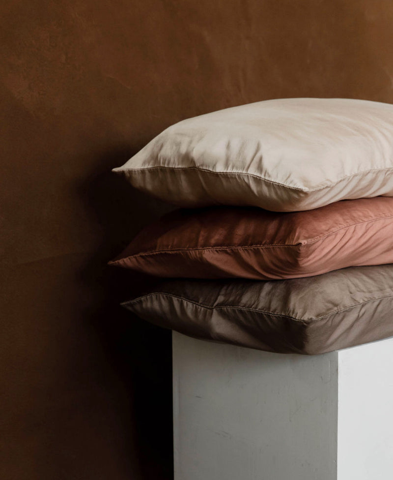 Silk Pillowcase in Terra Cotta
