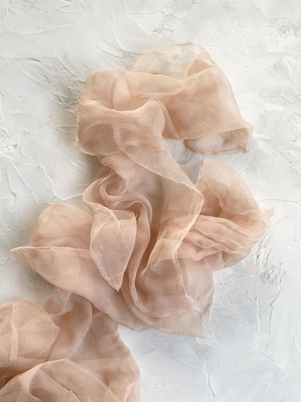 Peach Silk Gossamer Ribbon 310
