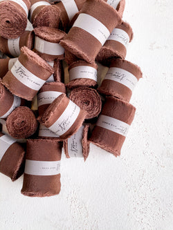 Coffee Brown Silk Classic Ribbon 044