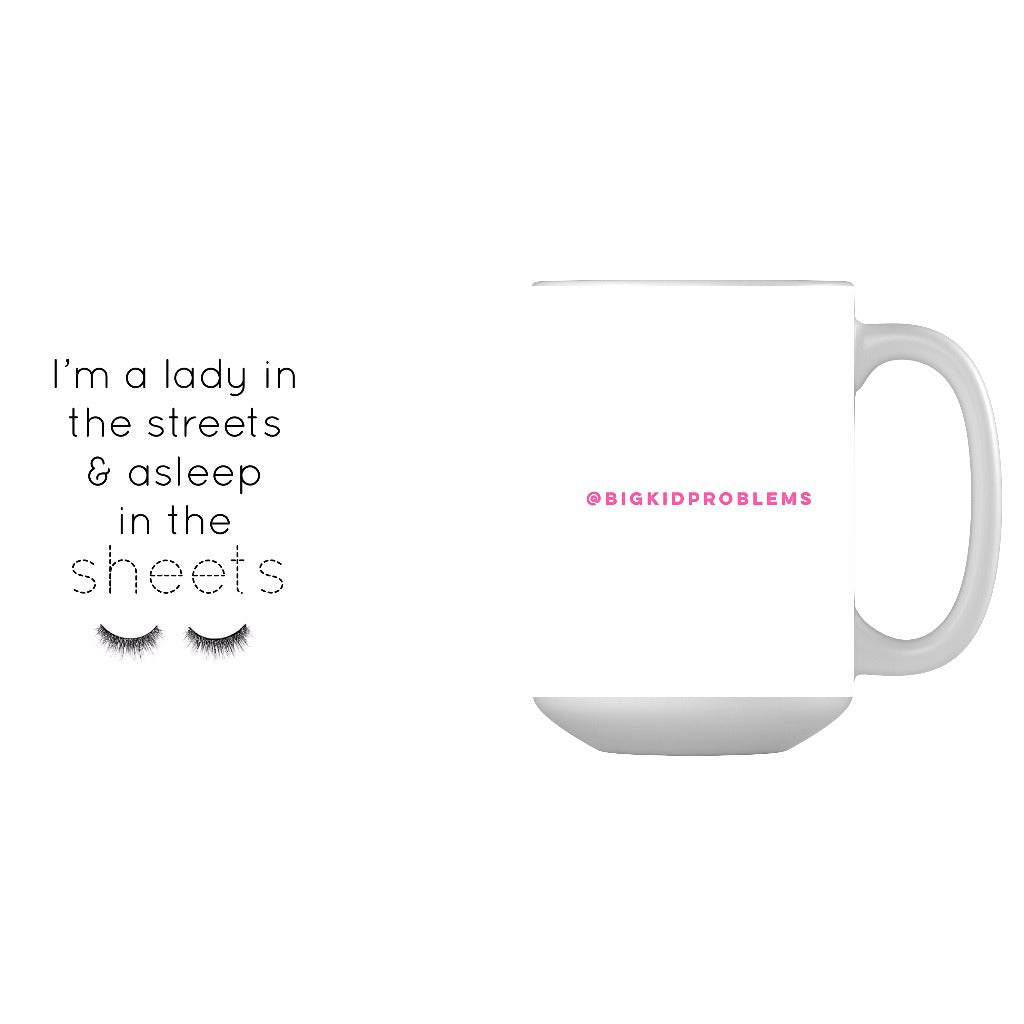 """Lady in the Sheets, Asleep in the Sheets"" Mug"