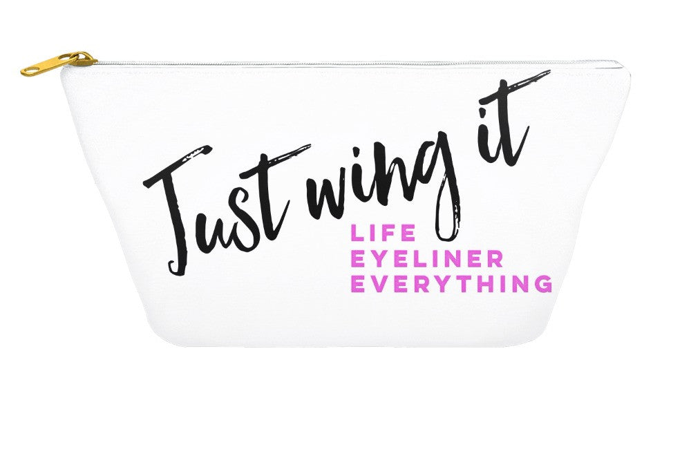 Just Wing It Makeup Pouch