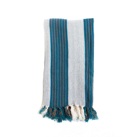 Multi Blue Stripe Bath Towel