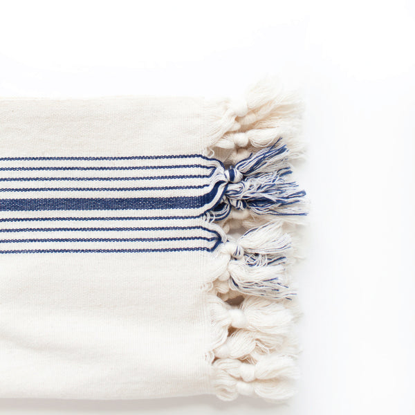 Navy Stripe Bath Towel