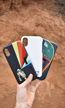 R2-D2, Stormtrooper, and Boba Fett Star Wars Series Disney x OtterBox phone case for iPhone XR