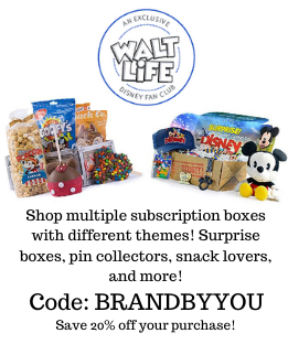 Save 20% on these Disney themed subscription boxes from Walt Life Boxes! They have multiple themed boxes for snack lovers, pin collectors, overall Disney addicts, and even surprise boxes to let someone know they are headed to Disney soon!
