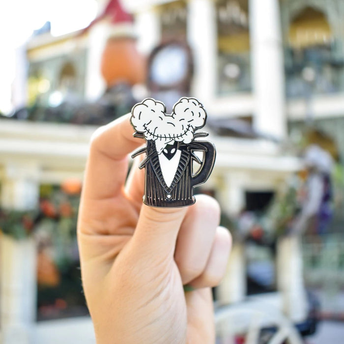 Jack Skellington's character outfit has been worked into Brand By You's design, Mouse Ears and Cold Beers. Perfect for Halloween or Christmas at the Haunted Mansion Holiday. Perfect for any fan of the Nightmare Before Christmas!