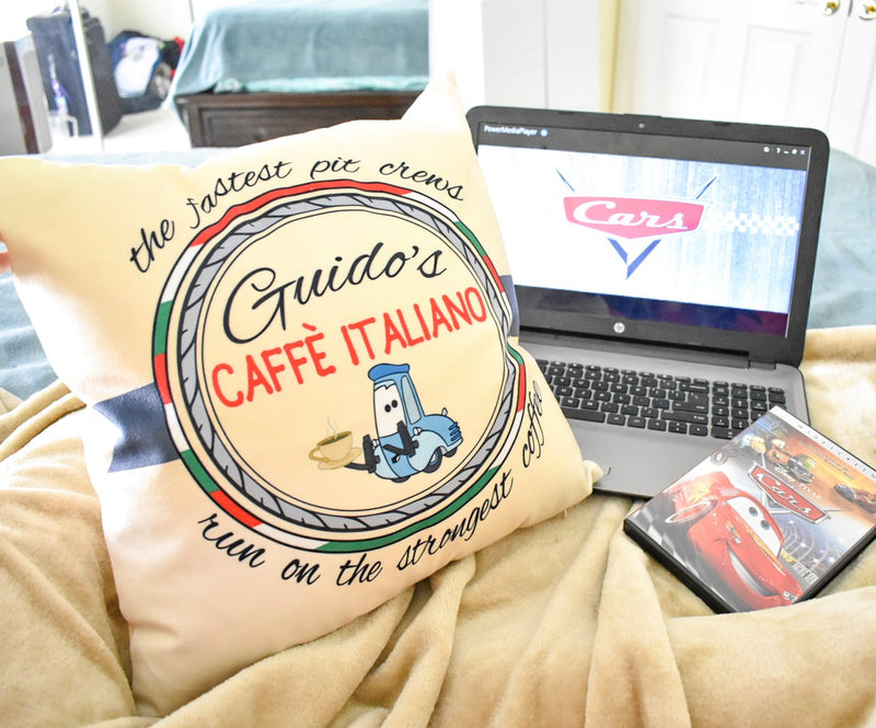 What better way to celebrate Fall than with a good Disney Pixar movie, a fuzzy blanket, and a comfy pillow brought to you by Brand By You. Not to mention, a good cup of coffee that matches your pillow.