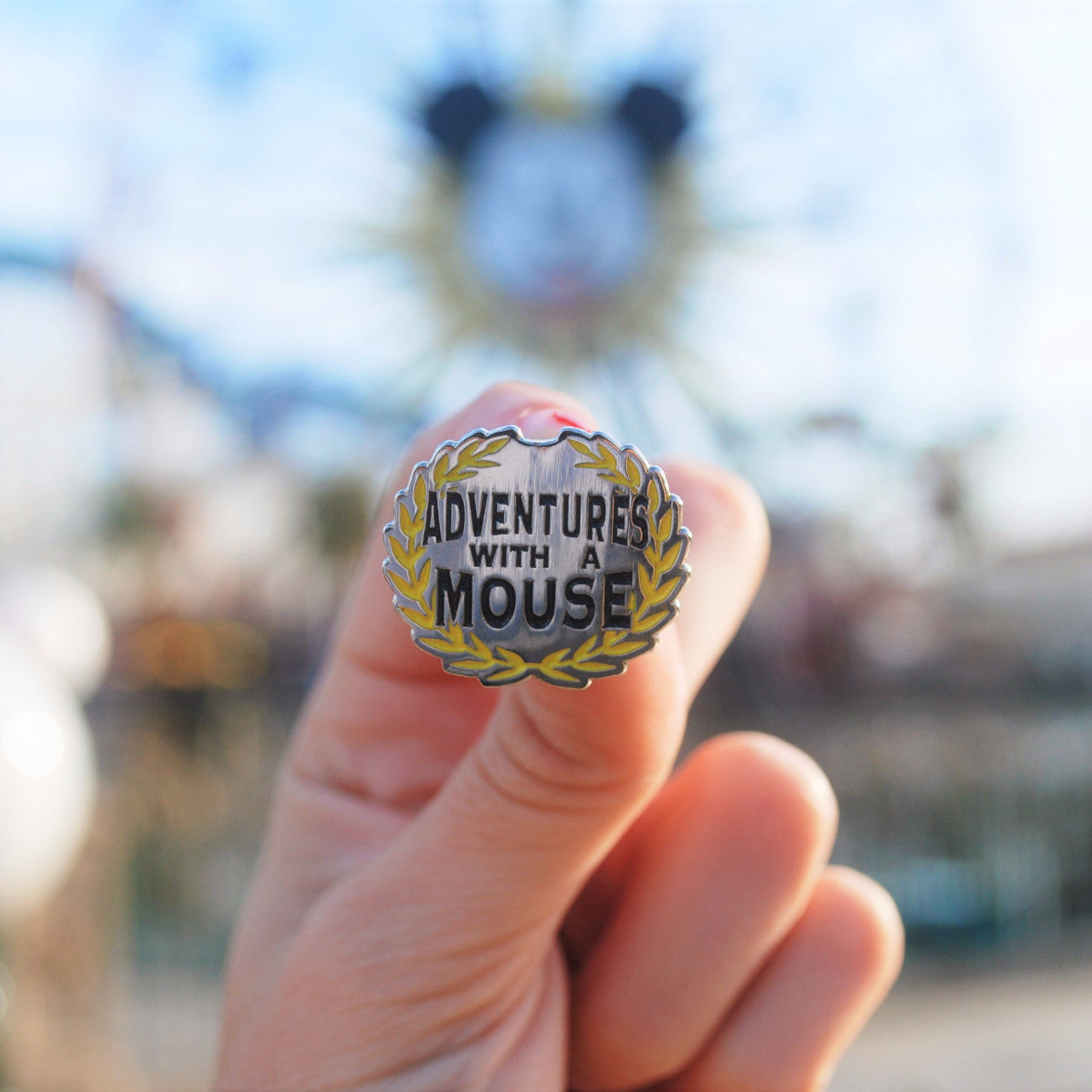 Hard enamel Adventures with a Mouse pin to commemorate the time spent with Mickey Mouse on Paradise / Pixar Pier and all that Disney has brought us.