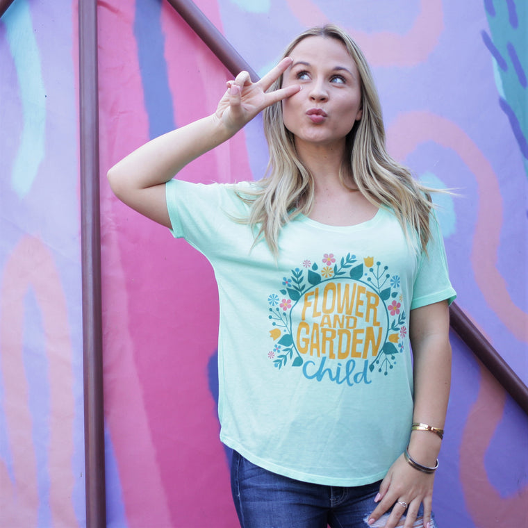 Flower & Garden Child - Slouchy Tee