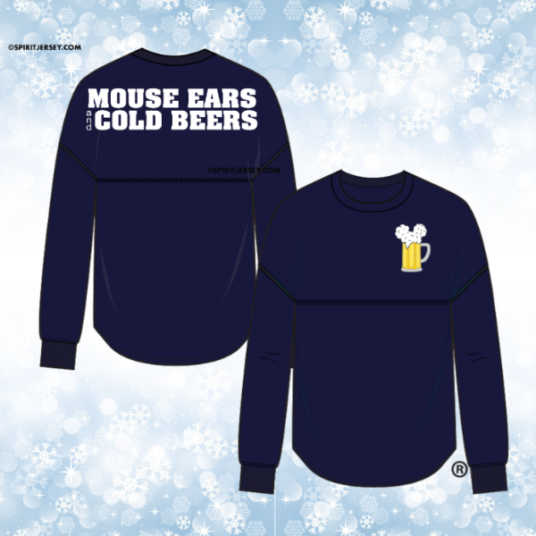 Mouse Ears and Cold Beers - Custom Printed Spirit Jersey®