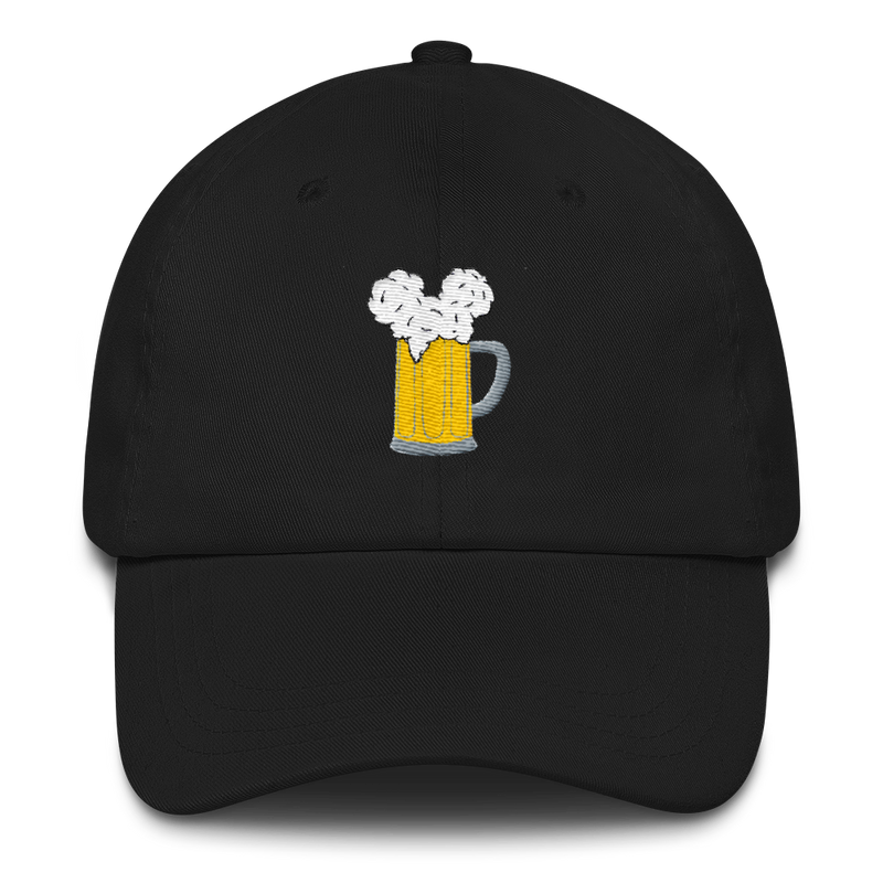 Brand By You is rocking the summer look with these dad hats with their most popular design - Mouse Ears and Cold Beers. We know a lot of the more manly Disney goers don't like to wear mouse ears. But this hat is a perfect compromise for the perfect park day look. Especially when that color is in black!