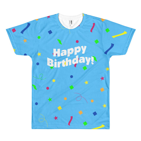 Happy Birthday - Unisex Sublimated Crew