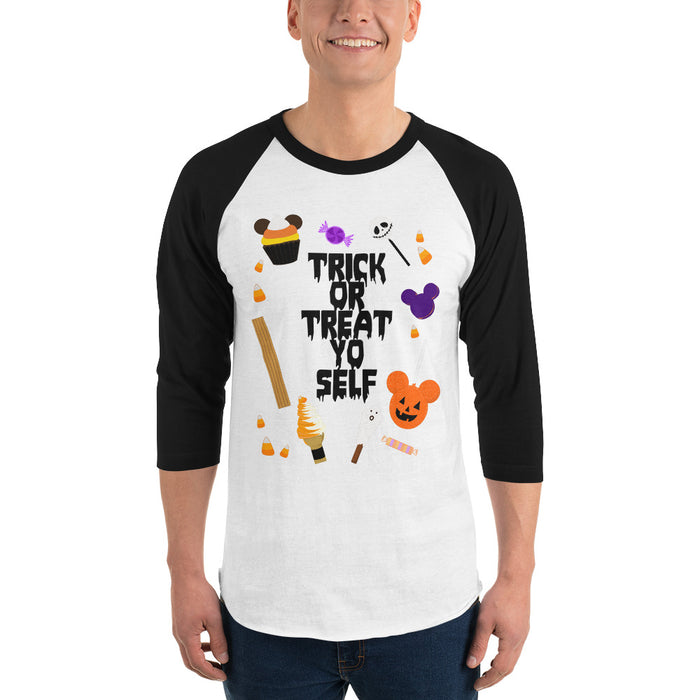 Trick or Treat Yo Self - 3/4 Sleeved Raglan