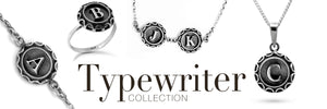 TYPEWRITER ALPHABET JEWELLERY