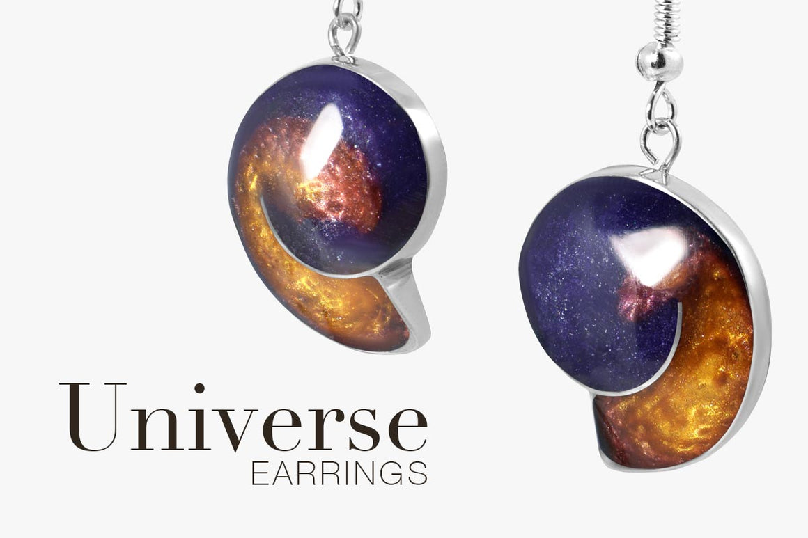 Magpie's Loot Handmade Resin Earrings from Universe Jewellery Collection Banner