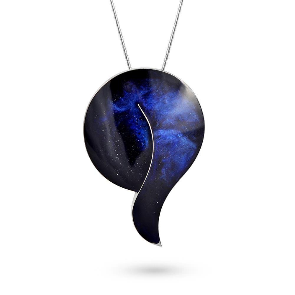Handmade Resin Drop Blue Pendant by Magpie's Loot