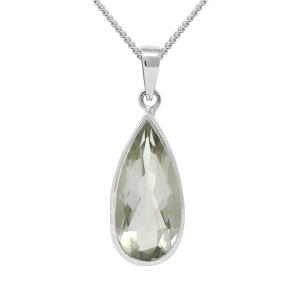 Exotic Green Amethyst Pear Shape Pendant