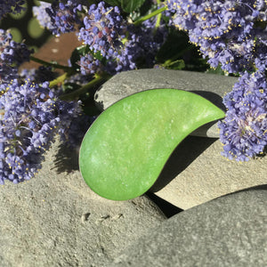 Handmade Resin Bright Green Drop Shape Brooch