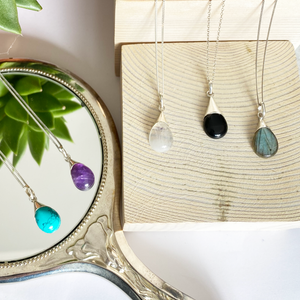 Gemstones Drop Pendants