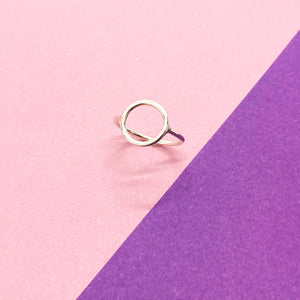 Sterling Silver Plain Circle Ring