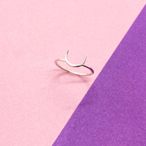 Half Moon Sterling Silver Ring