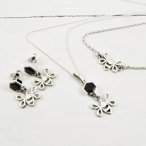 Magpie's Loot Honeycomb Collection Black Onyx Silver Jewellery Set