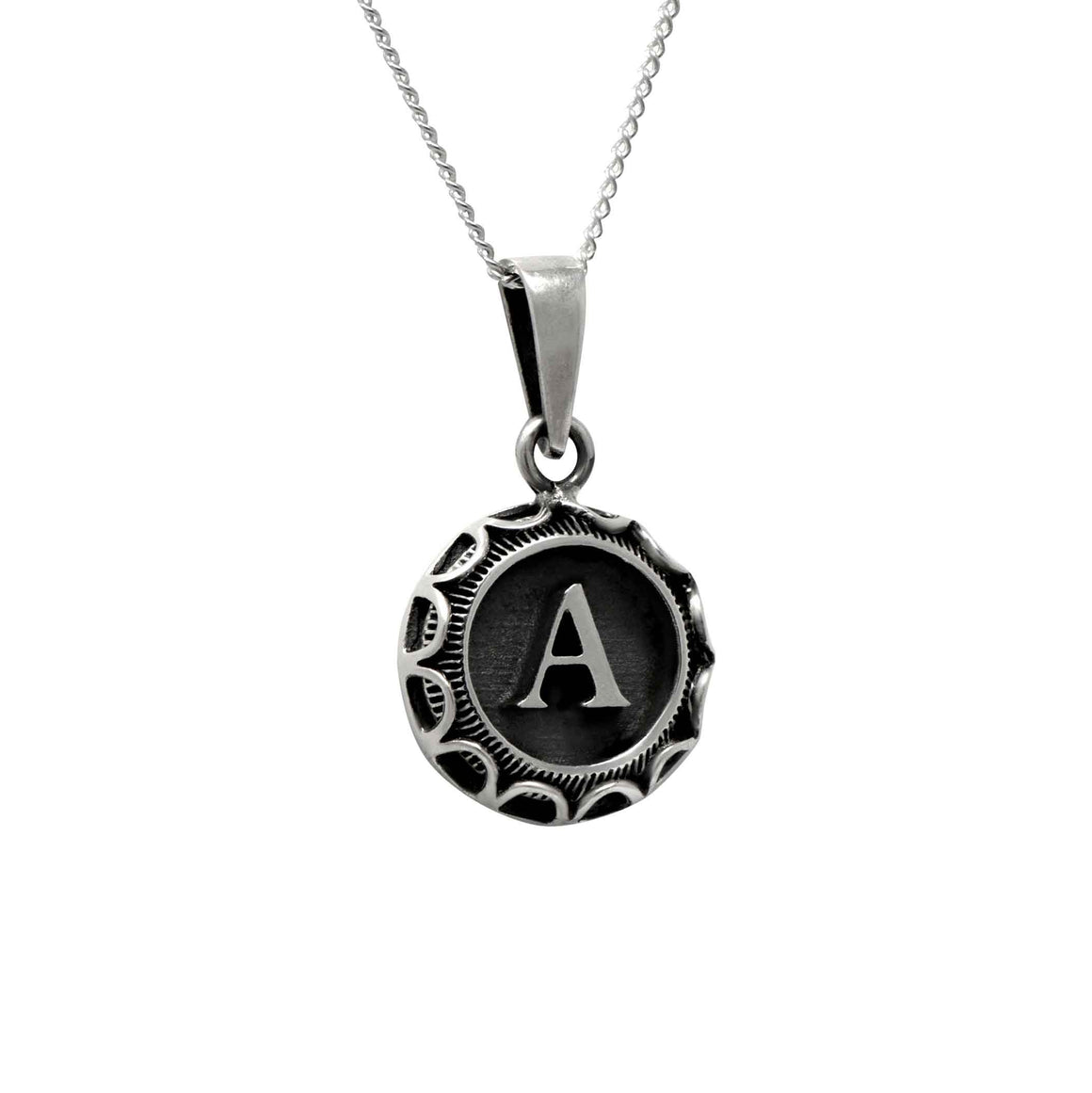 Typewriter Style One Letter Pendant