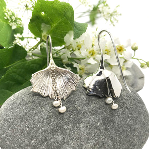Exotic Ginkgo Leaf Earrings