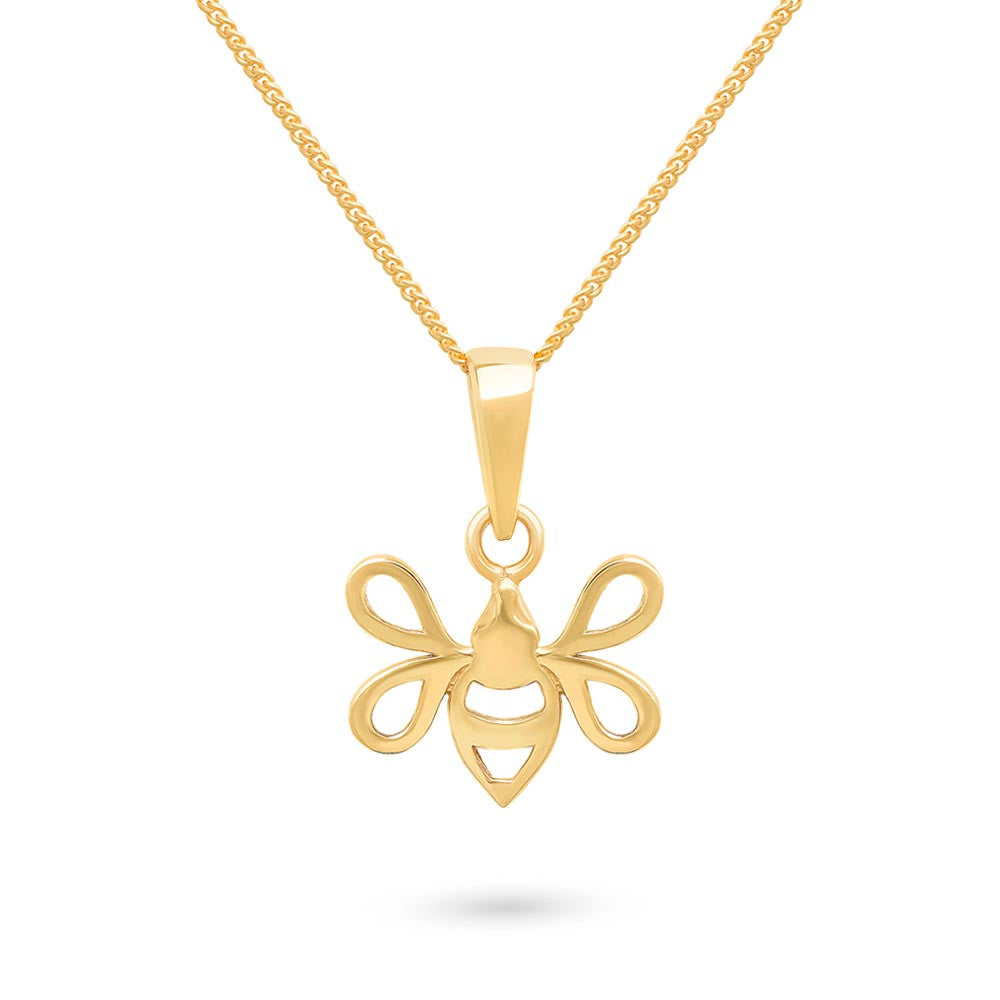 Gold Tiny Bee Charm Pendant