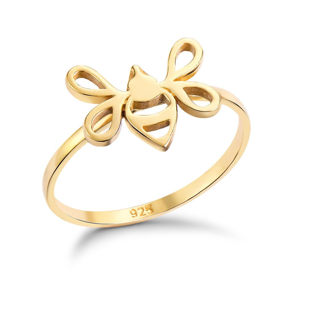 Gold Tiny Bee Ring
