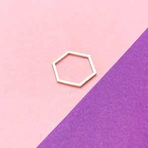 Hexagon Simple Band Sterling Silver
