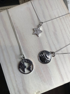 Mixed silver charms