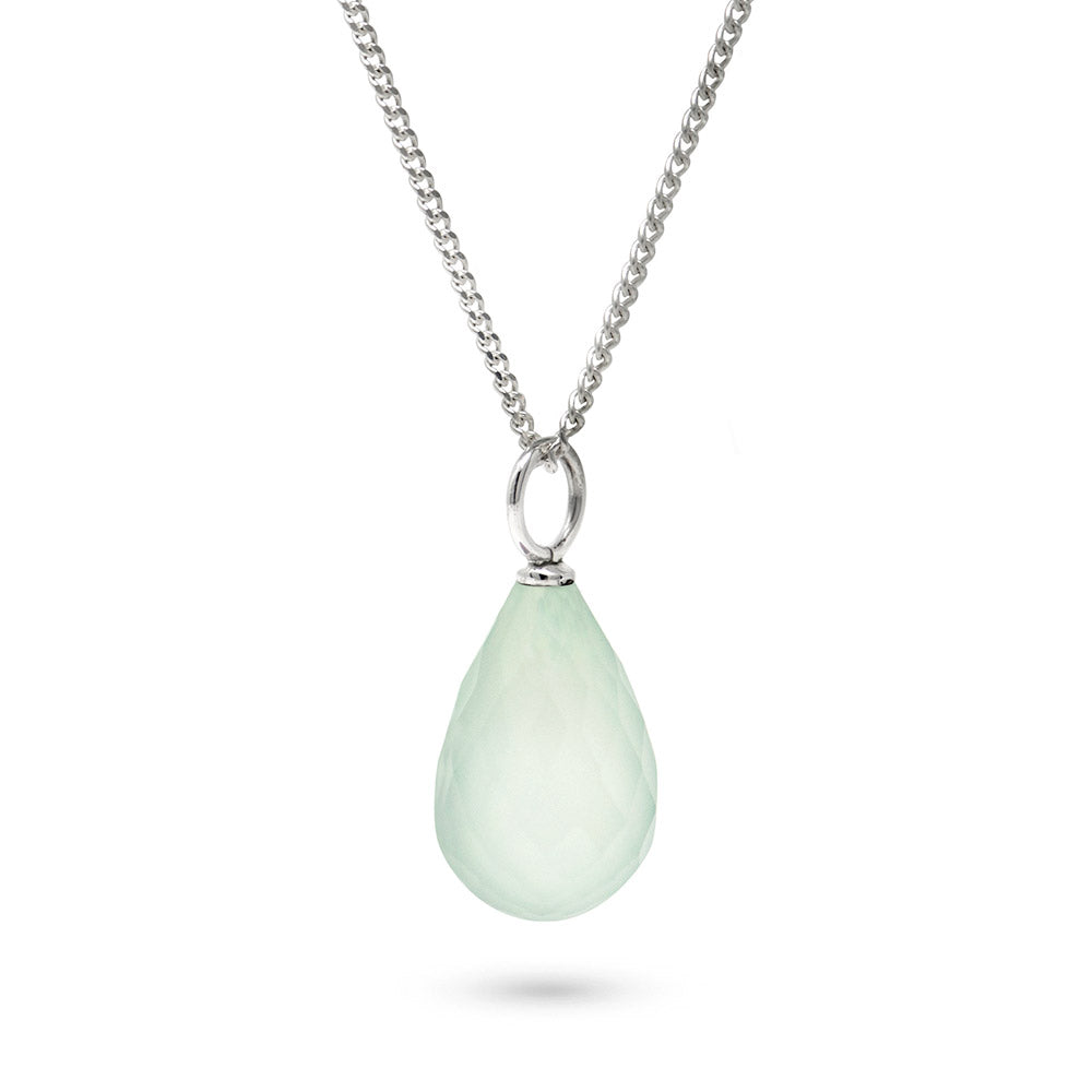 Aquamarine March Birthstone Pendant Necklace