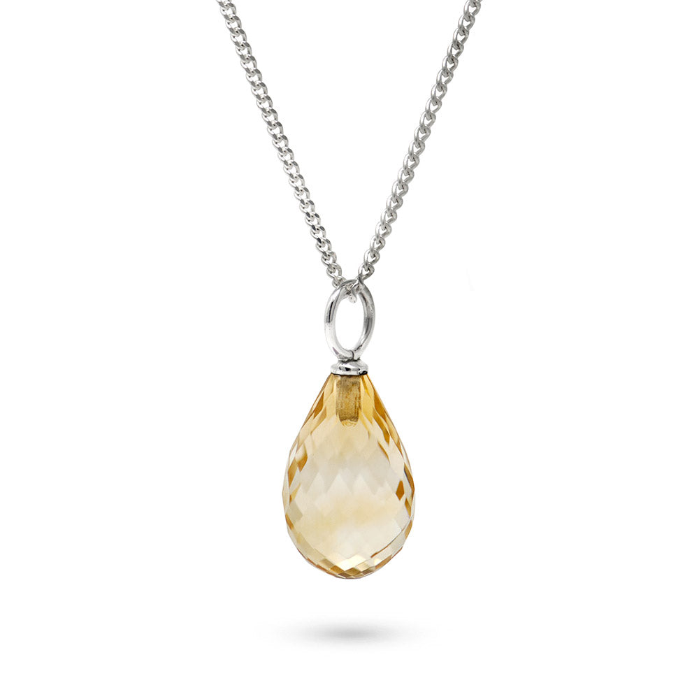 Citrine November Birthstone Pendant Necklace
