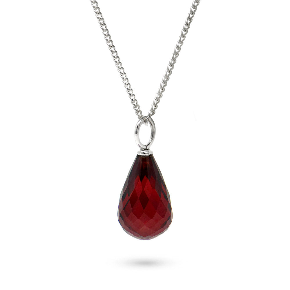 Garnet January Birthstone Pendant Necklace