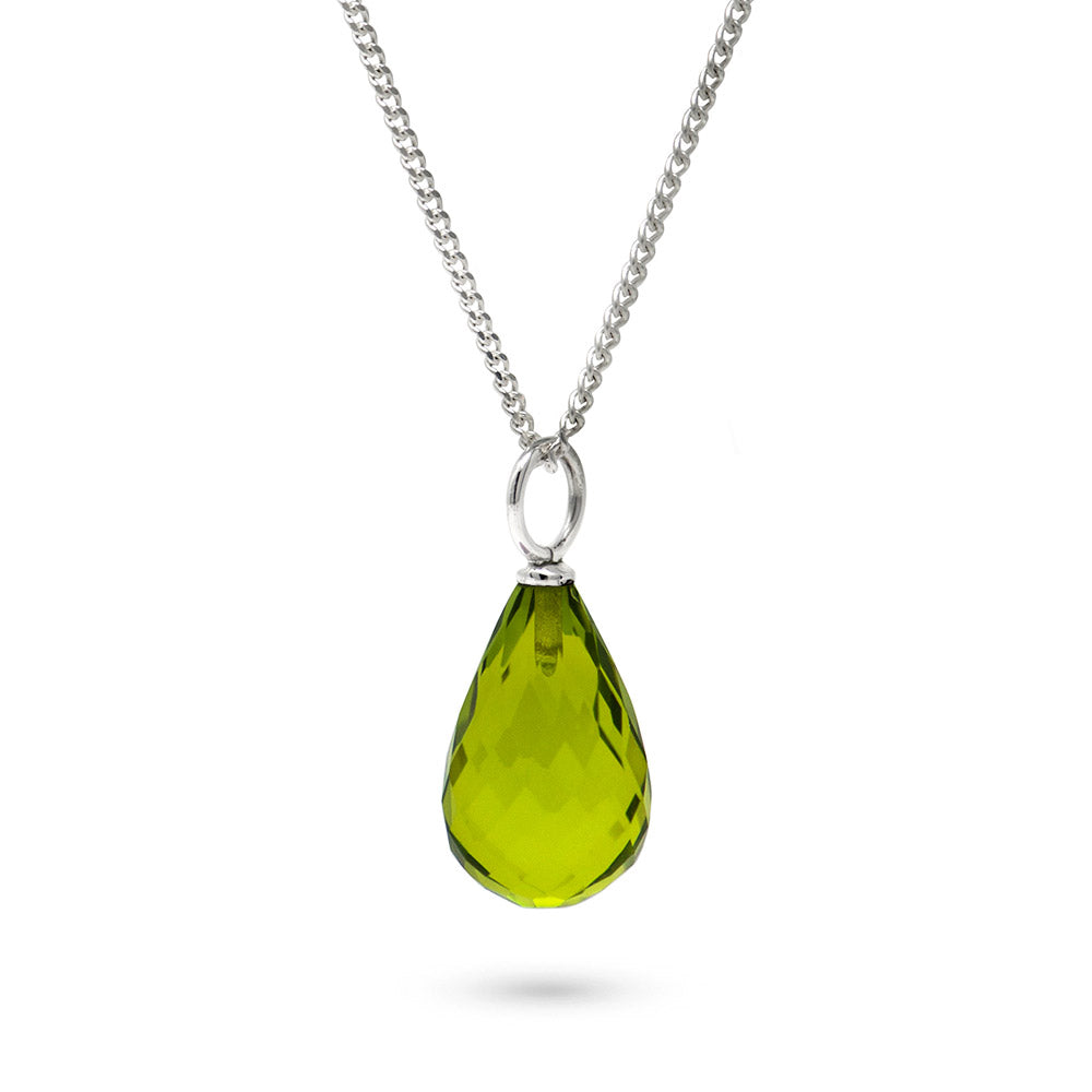 Peridot August Birthstone Pendant Necklace