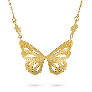 Gold Butterfly Pendant by Magpie's Loot
