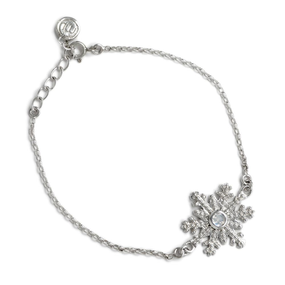 Snowflake Bracelet with Moonstone in Sterling Silver by Magpie's Loot