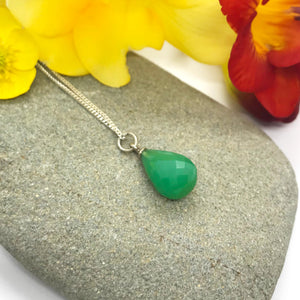 May Chrysoprase Birthstone Necklace