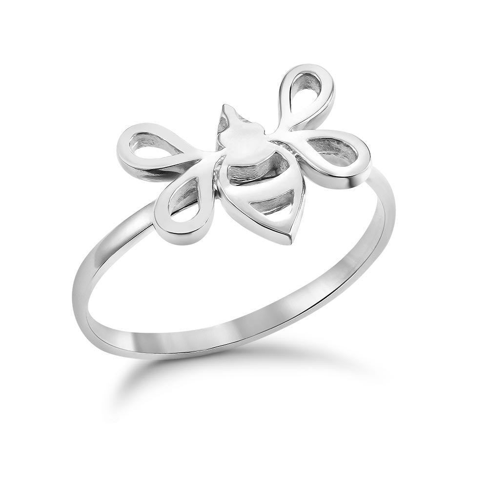 Silver Tiny Bee Ring