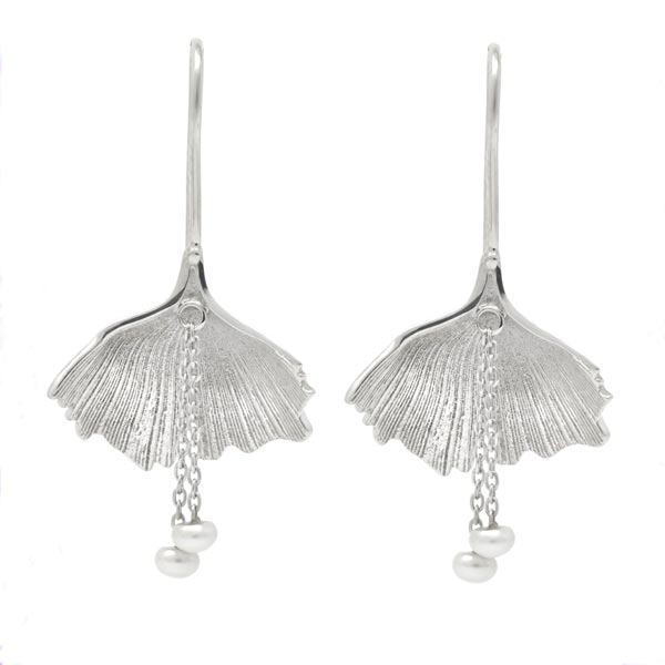 Exotic Gingko Leaf Earrings