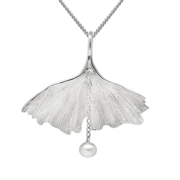 Exotic Gingko Leaf Pendant
