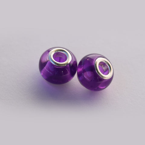 Purple Round Charms