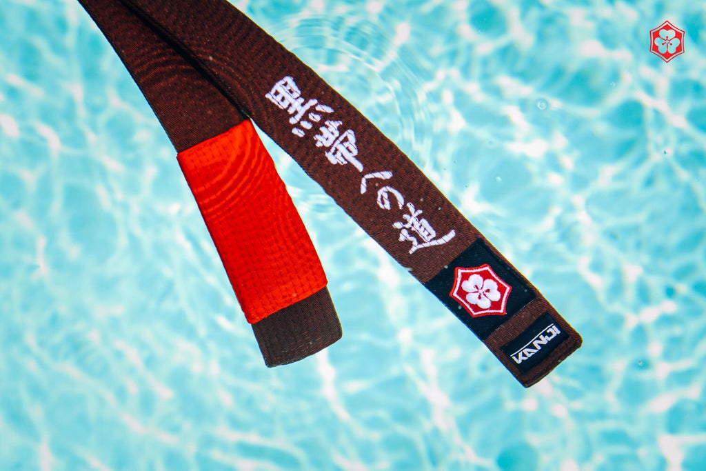 Kanji Limited Edition 'The Road to Black' Belt - Brown/Red(White Embroidery)