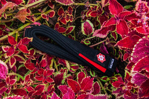 Kanji Premium Belt 'Katana' - Black/Red
