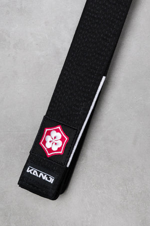 Kanji Premium Black Belt with White Bar - 'Original'