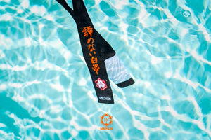 Kanji Limited Edition 'A White Belt Who Never Quit' Belt - Black/White(Orange Embroidery)