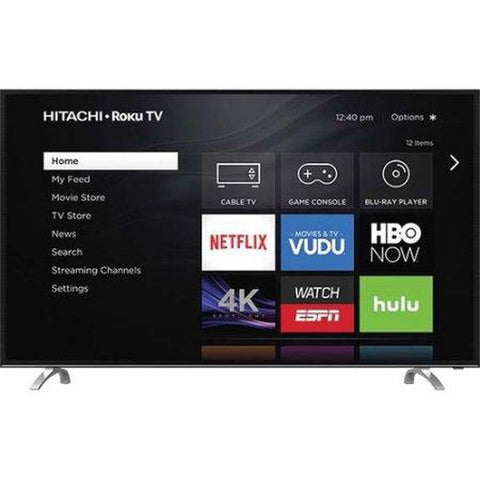 "Hitachi 49"" Class 4k UHD HDR TV with Roku TV - 49R81"